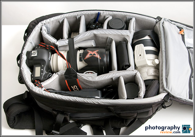 Lowepro Vertex 200 AW fully loaded