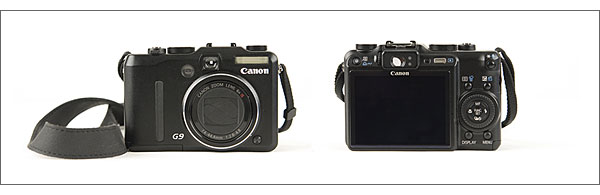 Canon PowerShot G9 - front and back