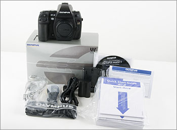 Olympus E-3 - Box Contents