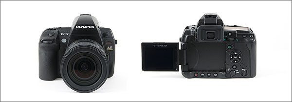 Olympus E-3 - front and back
