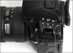 Olympus E-3 side controls