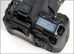 Olympus E-3 top LCD