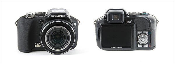 Olympus SP-560 UZ - front and back