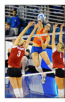 Nikon D300 Sample Photo - University of Florida volleyball - Harrison Diamond / Alligator Staff