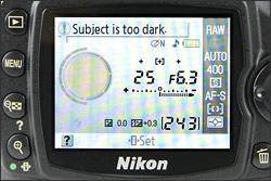 Nikon D40x - LCD Display
