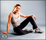 Nikon D40x - Fitness model stock photo
