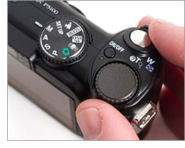 Nikon Coolpix P5100 - Command dial and Mode dial