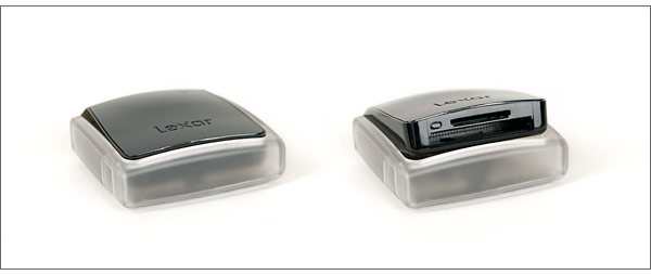 Lexar Professional UDMA USB 2.0 Card Reader - Open and closed