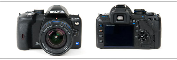 Olympus E-520 Digital SLR - Front & Back