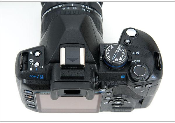 Olympus E-520 - Top Controls