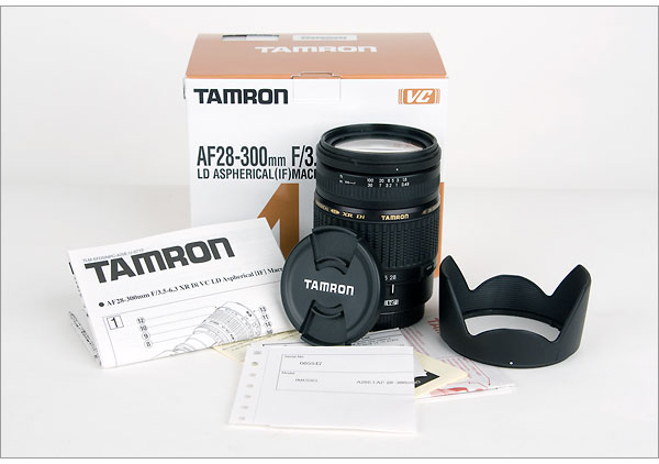 Tamron AF28-300mm F/3.5-6.3 XR Di VC lens  - box contents