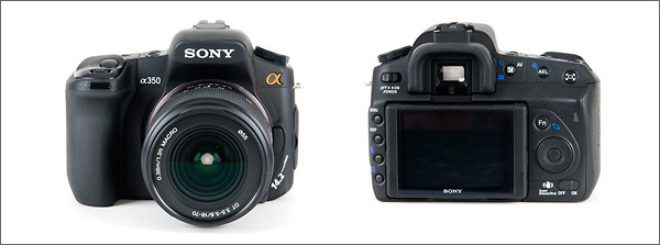 Sony Alpha DSLR-A350 - front and back