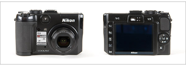 Nikon Coolpix P6000 - front and back