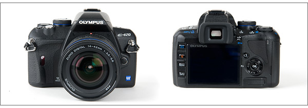 Olympus E-420 - front and back