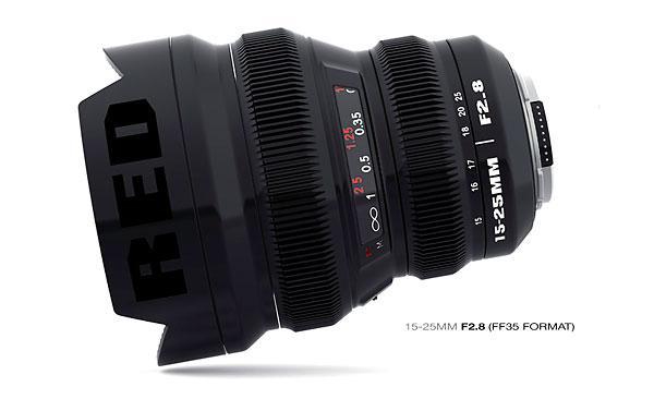 Red 15-25mm f/2.8 full-frame zoom lens