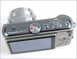 Panasonic Lumix DMC-TZ5 - Top controls and Mode dial