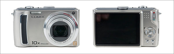 Panasonic Lumix DMC-TZ5 - front and back