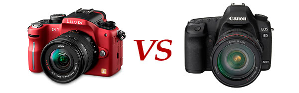 Panasonic G1 vs Canon EOS 5D Mark II and Nikon D90