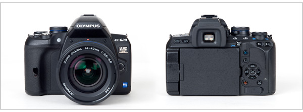 Olympus E-620 digital SLR - front and back
