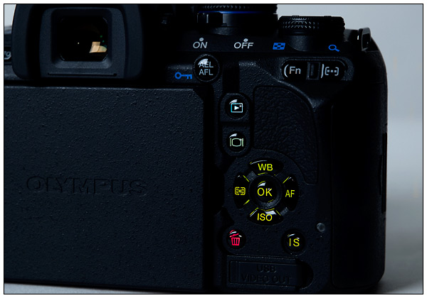 Olympus E-620 - lighted buttons
