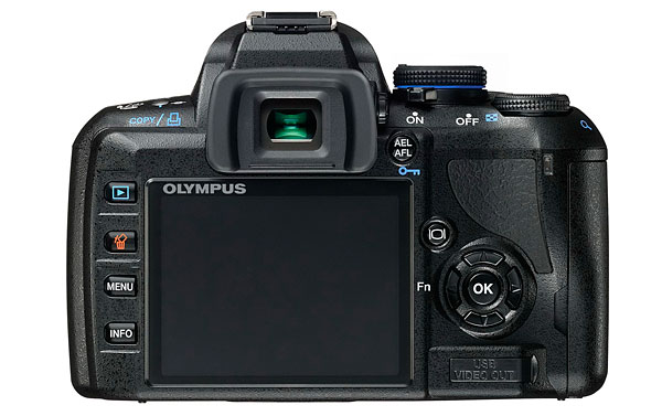 Olympus E-450 Digital SLR - Rear and LCD
