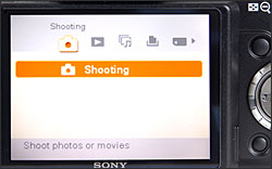 Sony Cybershot DSC-H50 - LCD Display