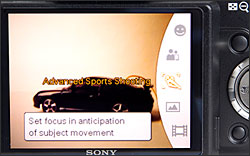 Sony Cybershot DSC-H50 - shooting mode selection with mode dial