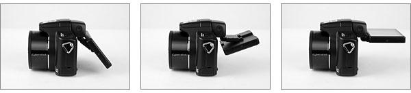 Sony Cybershot DSC-H50 - 3-inch, tilting LCD monitor