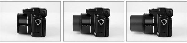 Sony Cybershot DSC-H50 - 15x optical zoom lens