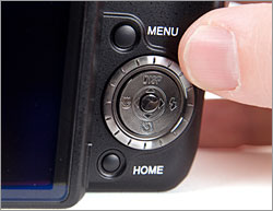 Sony Cybershot DSC-H50 - control button's four-way navigator