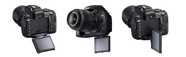 Nikon D5000 Vari-angle LCD positions
