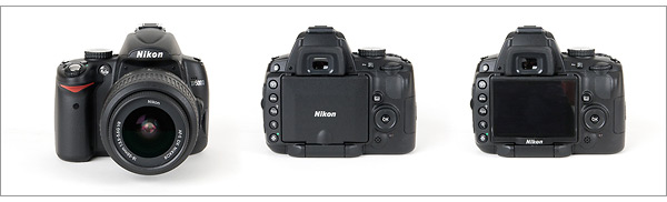 Nikon D5000 - front and back