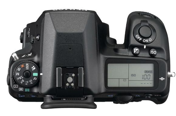 Pentax K7 Digital SLR - Top View