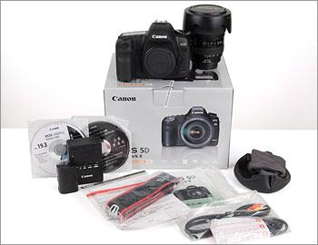 Canon EOS 5D Mark II box contents