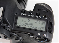 Canon EOS 5D Mark II top lcd