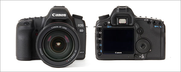Canon EOS 5D Mark II - front and back