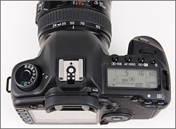 Canon EOS 5D Mark II top controls
