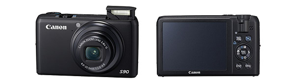 Canon PowerShot S90 Digital Camera - Front & Back