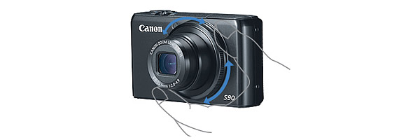 Canon PowerShot S90 - Control Ring