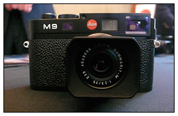Leica M9 at the press intro event