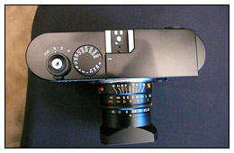 Top view of the Leica M9 at the press intro event