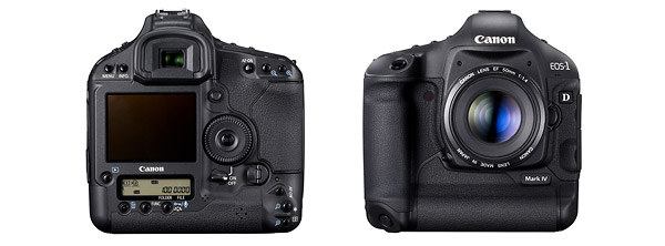 Canon EOS-1D Mark IV pro digital SLR - front and back