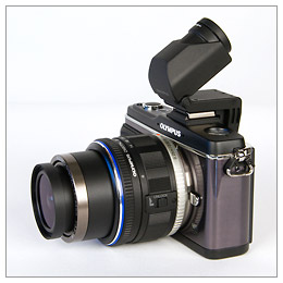 Olympus E-P2 and Articulated EVF
