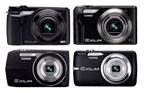 Casio High Speed Exilim EX-FH100, Exilim EX-H15, EX-Z2000 and EX-Z550