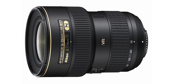 Nikon AF-S 16-35mm f/4G ED VR Zoom Lens