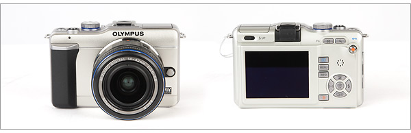 Olympus E-PL1 - front and back