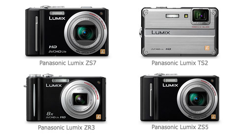 Panasonic Lumix ZS7, ZS3, TS2 and ZR3 Digital Cameras