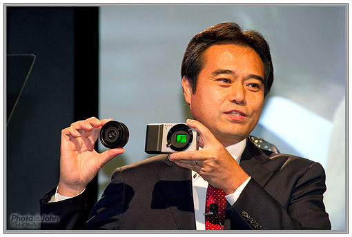 Sony Compact Alpha digital camera press conference