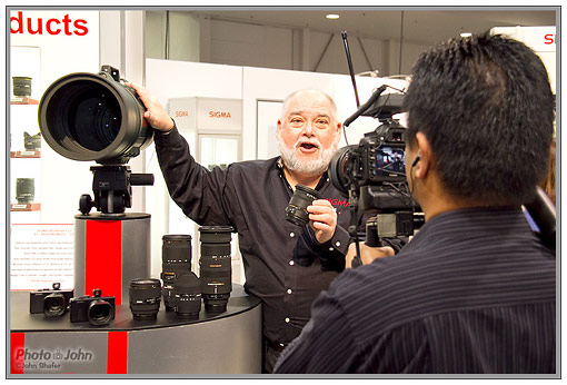 Shooting the Sigma lens intro video at PMA 2010