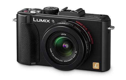 Panasonic Lumix LX5 - front - black